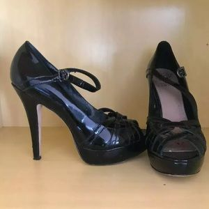 Vince Camuto Stiletto Heel Pumps, Black Leather